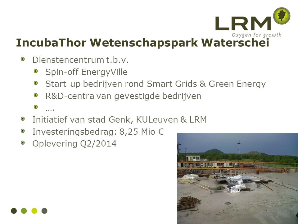IncubaThor Wetenschapspark Waterschei Dienstencentrum t.b.v.