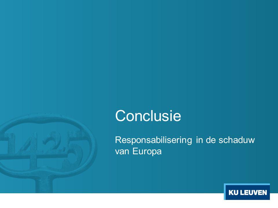 Conclusie Responsabilisering in de schaduw van Europa