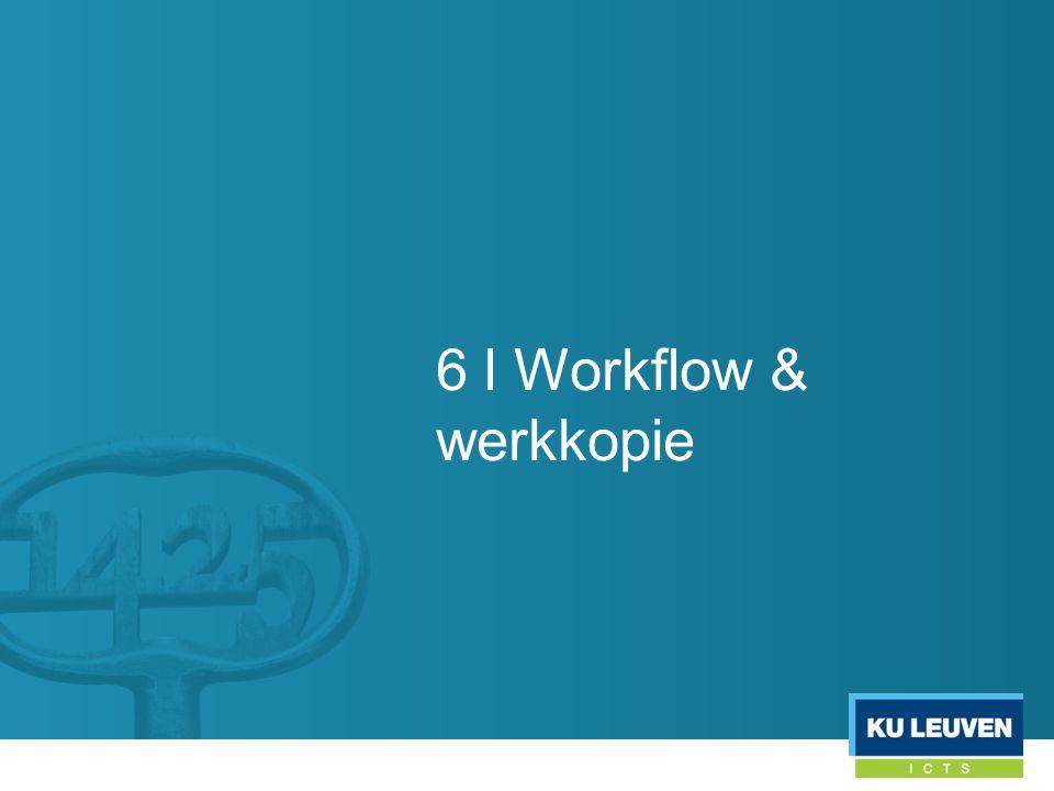 6 l Workflow & werkkopie