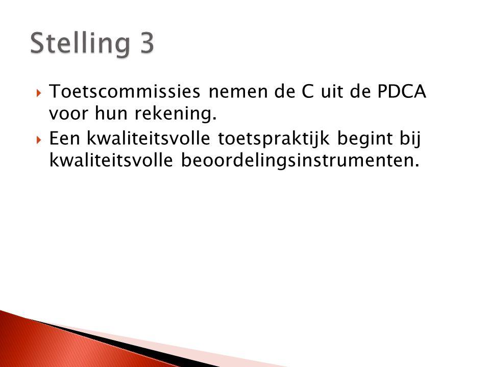  Toetscommissies nemen de C uit de PDCA voor hun rekening.
