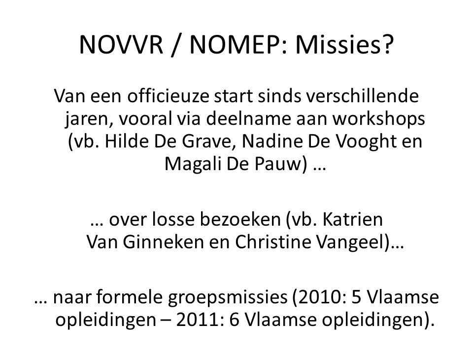 Van een officieuze start sinds verschillende jaren, vooral via deelname aan workshops (vb. Hilde De Grave, Nadine De Vooght en Magali De Pauw) … … ove