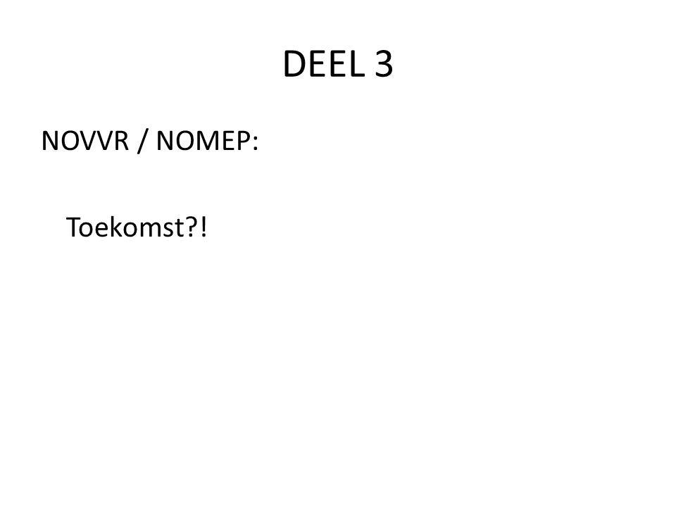 DEEL 3 NOVVR / NOMEP: Toekomst?!