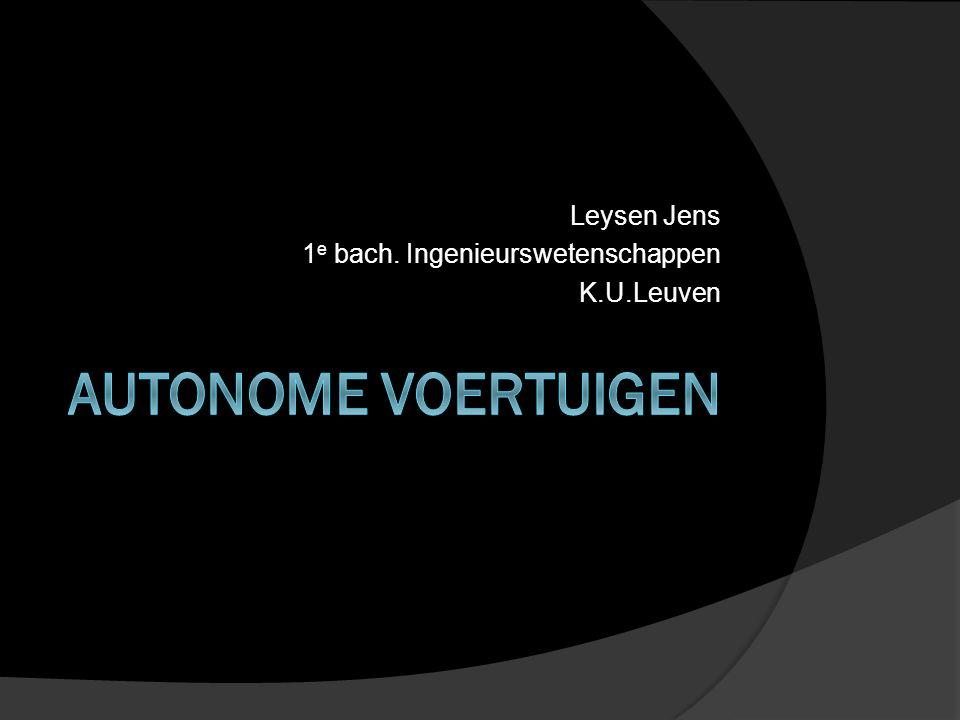 Leysen Jens 1 e bach. Ingenieurswetenschappen K.U.Leuven