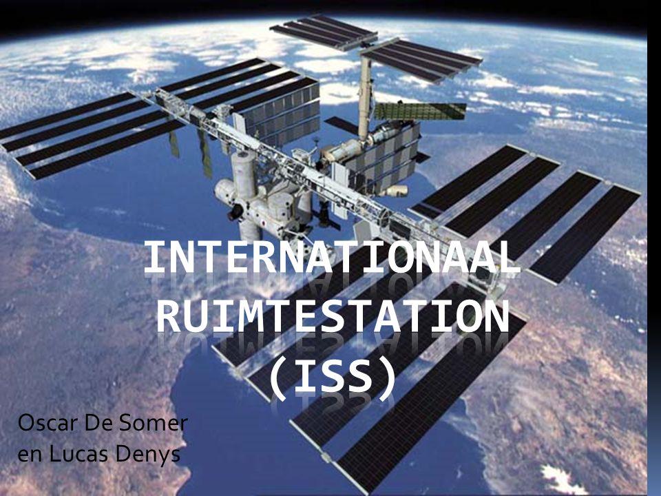 Wat?  Ruimtestation in baan rond de aarde  Internationaal onderzoekscentrum  Permanent bemand