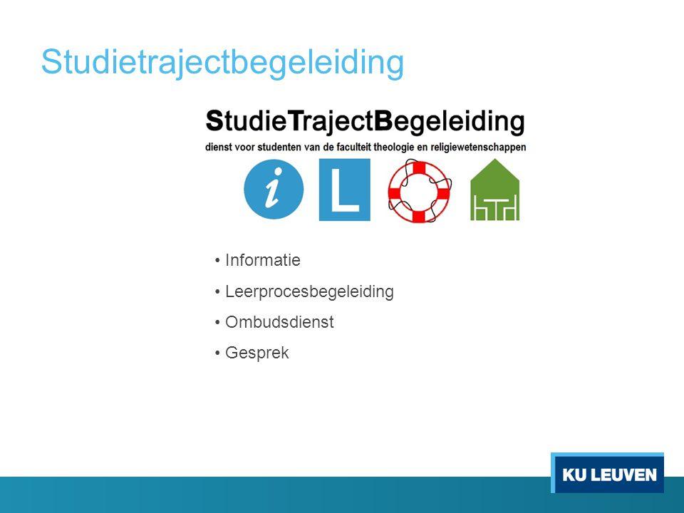 Studietrajectbegeleiding Informatie Leerprocesbegeleiding Ombudsdienst Gesprek