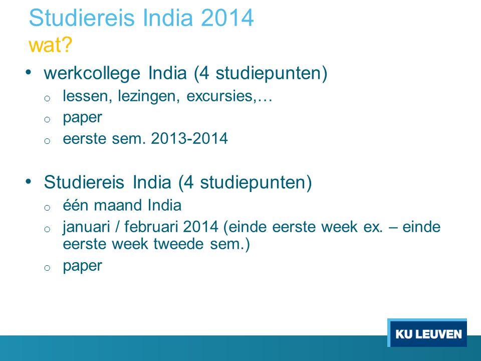 Studiereis India 2014 wat.
