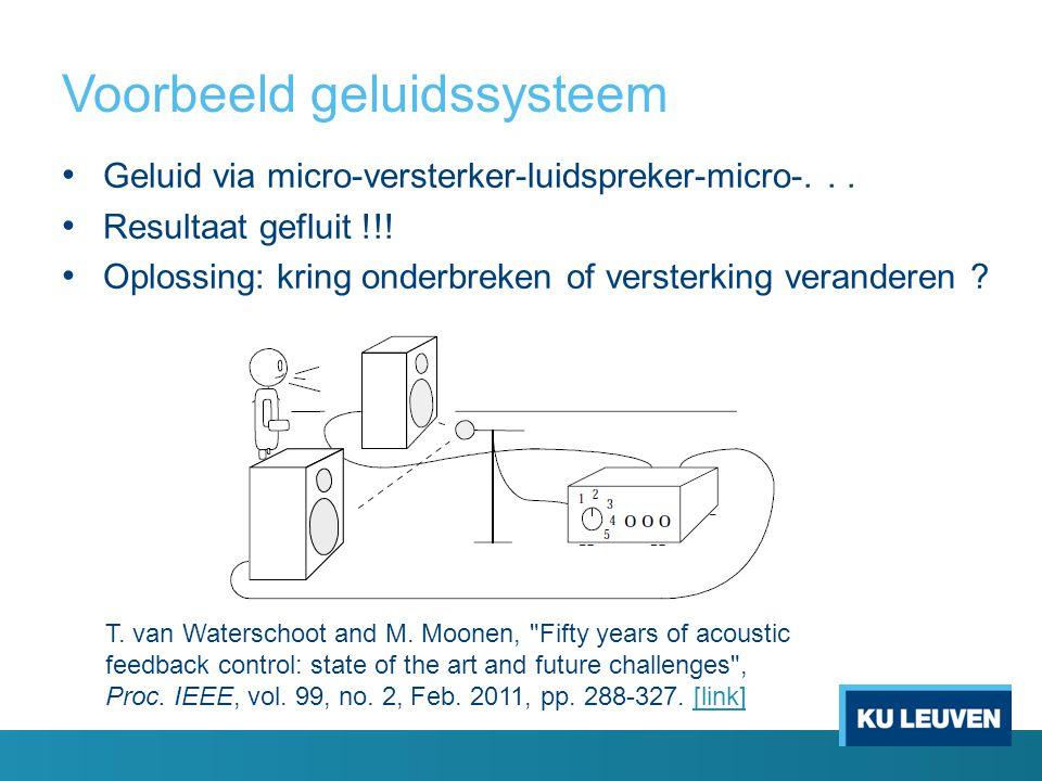 Voorbeeld geluidssysteem Geluid via micro-versterker-luidspreker-micro-...