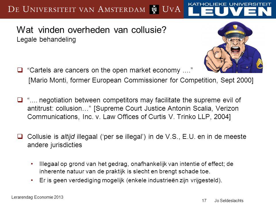 17 Jo Seldeslachts Wat vinden overheden van collusie.