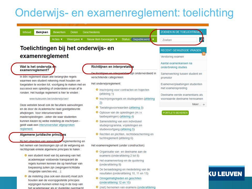 Onderwijs- en examenreglement: toelichting
