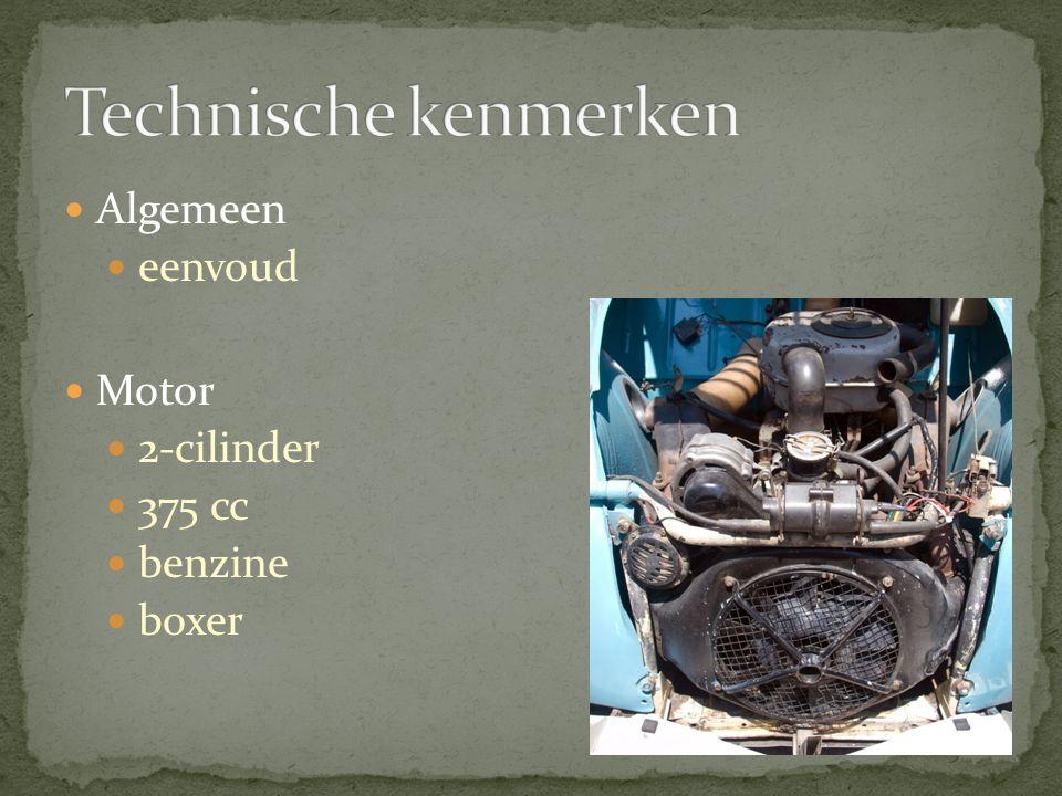 Algemeen eenvoud Motor 2-cilinder 375 cc benzine boxer