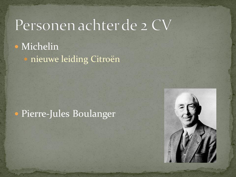 Michelin nieuwe leiding Citroën Pierre-Jules Boulanger