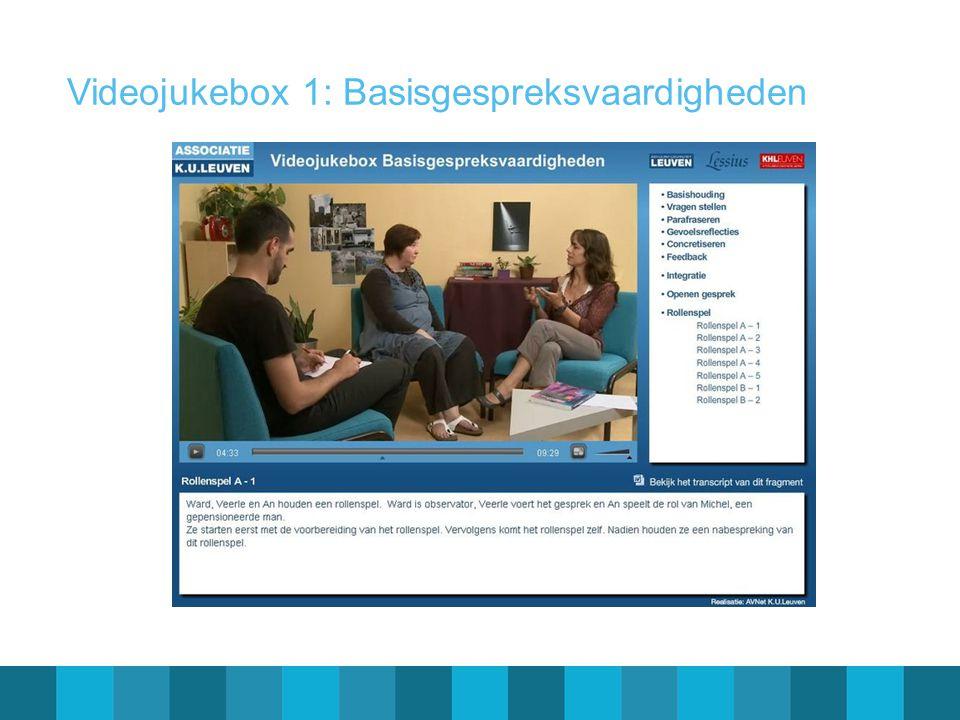 Videojukebox 1: Basisgespreksvaardigheden