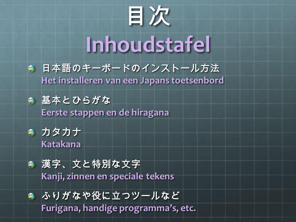 日本語のキーボードのインストール方法 Het installeren van een Japans toetsenbord ① : Windows: Control Panel  Region and Language