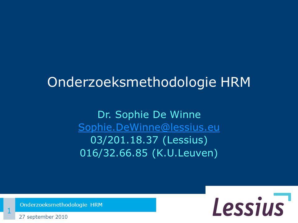 Onderzoeksmethodologie HRM Dr.