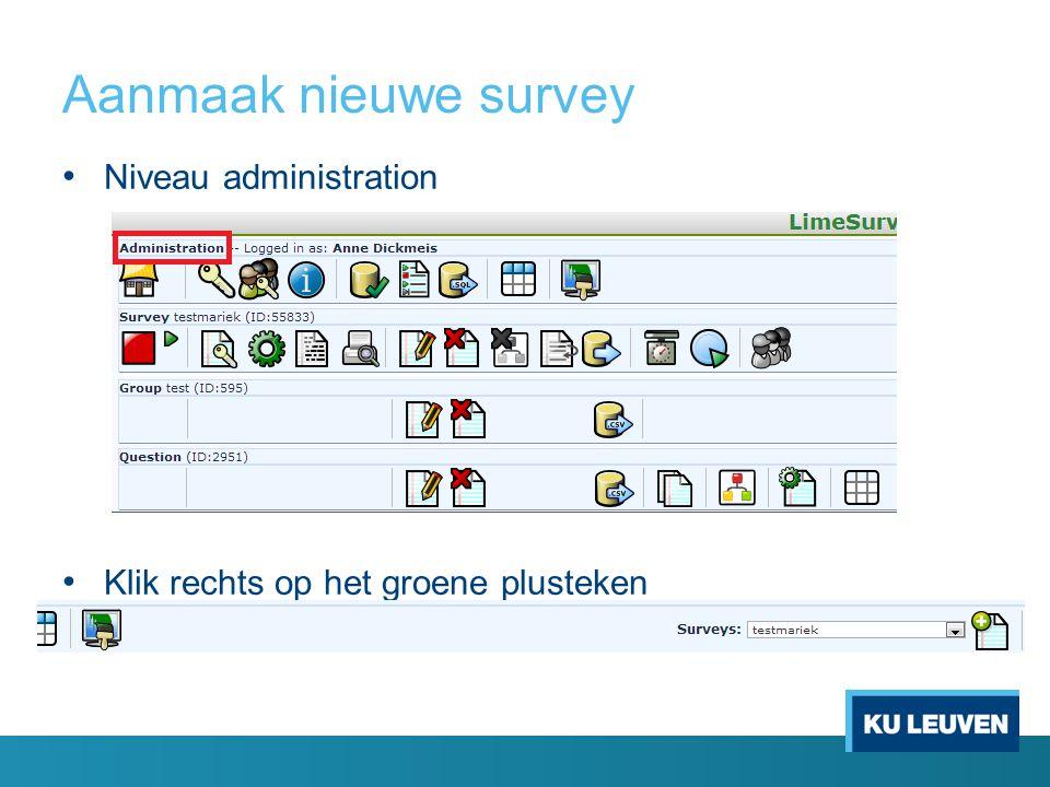 Resultaten Icoon vergrootglas Browse responses Om antwoorden te exporteren twee mogelijkheden: o Via SPSS o Via application