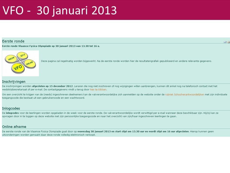 VFO - 30 januari 2013