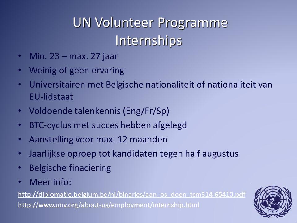 UN Volunteer Programme Internships UN Volunteer Programme Internships Min.