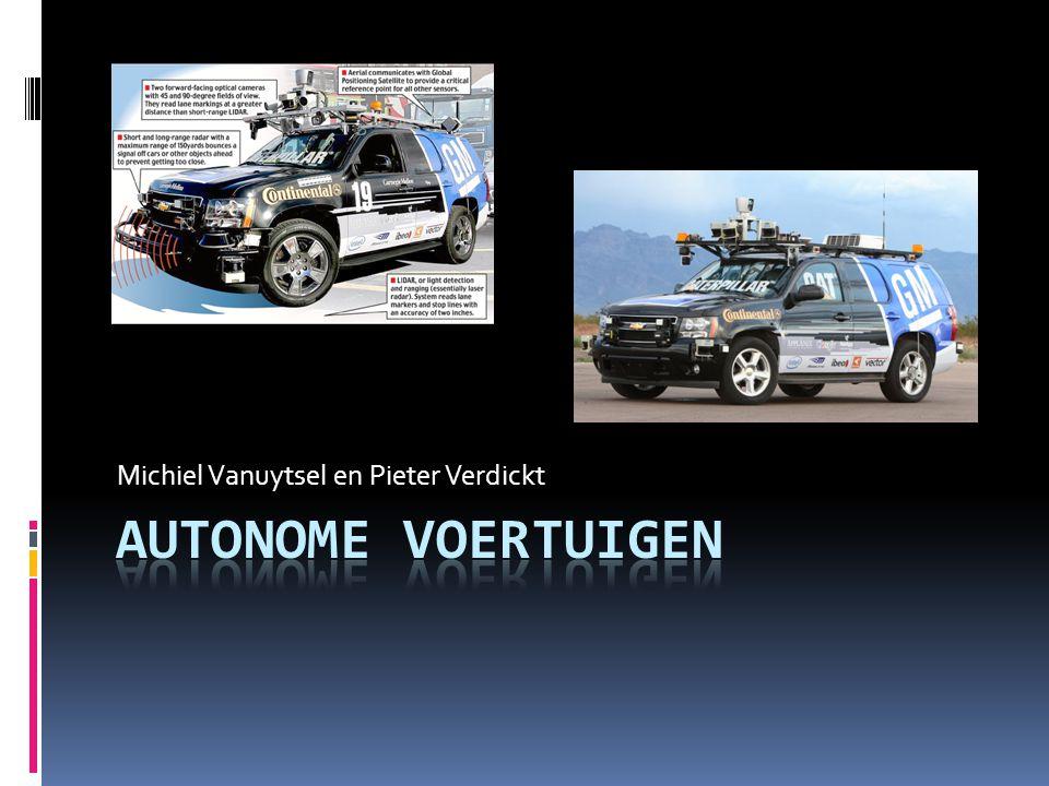 Inhoudstabel  Wat zijn autonome voertuigen?  Geschiedenis  Voor– en nadelen