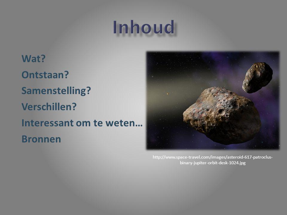 Planetoïden Brokstukken Ruimte http://www.orionnevel.nl/wp- content/uploads/2011/03/planetoide_gordel.jpg