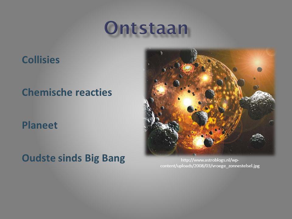Collisies Chemische reacties Planeet Oudste sinds Big Bang http://www.astroblogs.nl/wp- content/uploads/2008/03/vroege_zonnestelsel.jpg