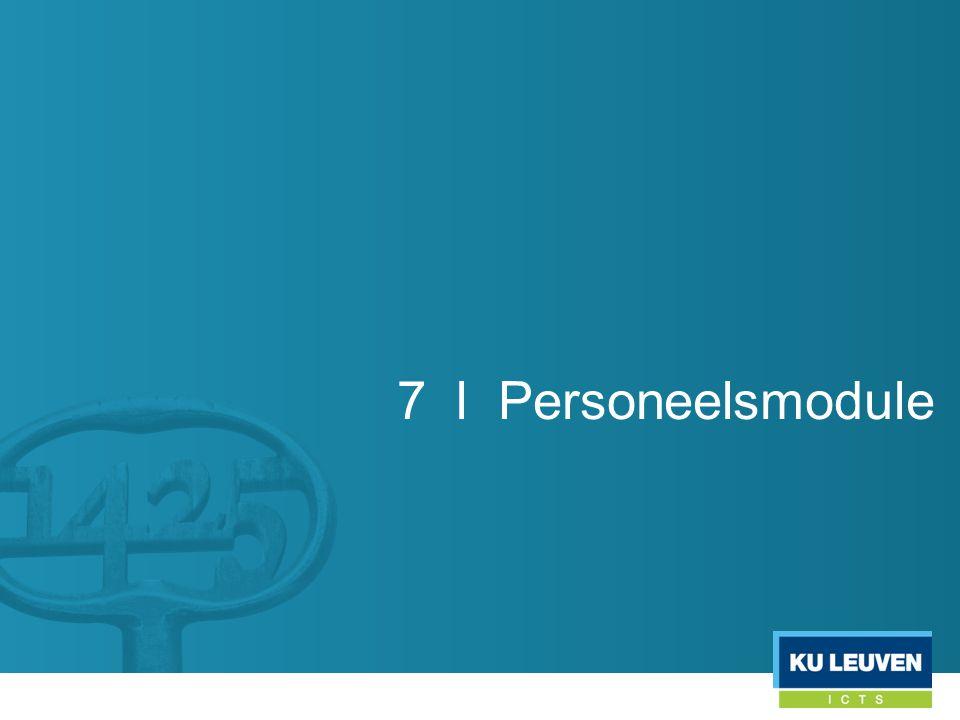 7 l Personeelsmodule