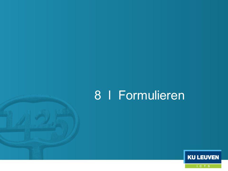 8 l Formulieren