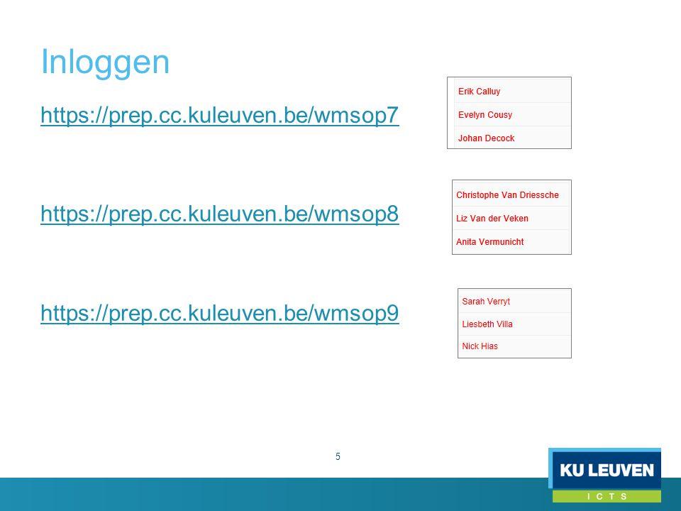 Inloggen (vervolg) 6 Klik op Inloggen (rechtsonder in de footer) o Gebruikersnaam (uxxxxxxx) o Intranet wachtwoord Als je ingelogd bent zie je o bovenaan: Inhoudstaakbalk & Actietaakbalk o onderaan: Footer Als je ingelogd bent kan je de webpagina's bewerken waarop je rechten hebt