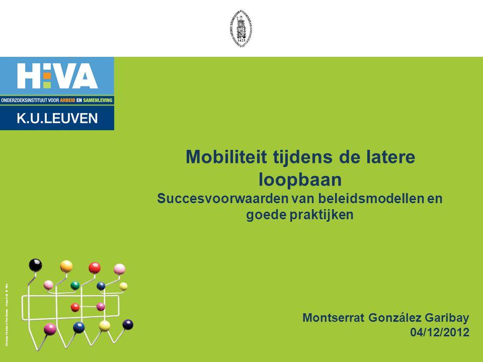 Beleidslessen - VK 12 -Gedifferentieerde effecten van maatregelen op de mobiliteit van verschillende maatschappelijke groepen -Mobiliteit tijdens de latere loopbaan is geen noodzakelijke voorwaarde voor langere loopbanen -Nood aan gegevens en betrouwbaar onderzoek om mobiliteit goed te kunnen inschatten