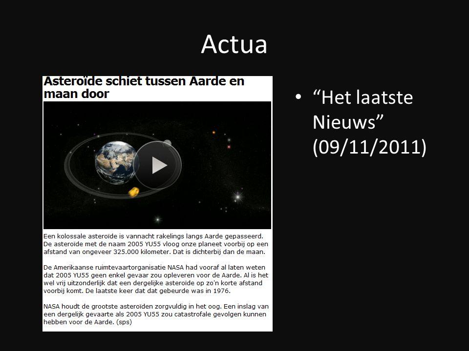"""Actua """"Het laatste Nieuws"""" (09/11/2011)"""