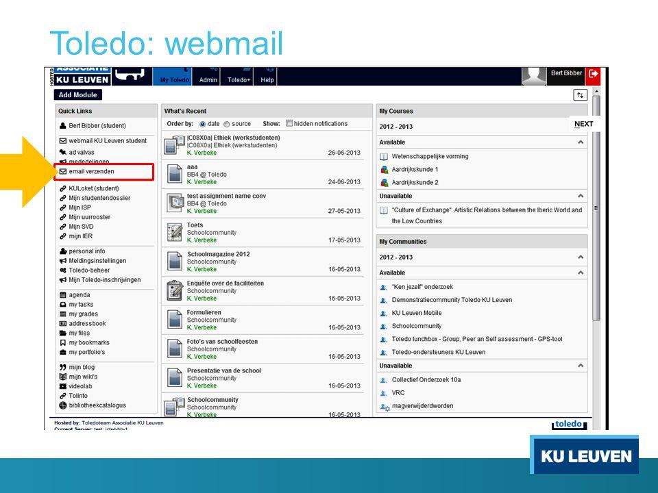 Toledo: webmail