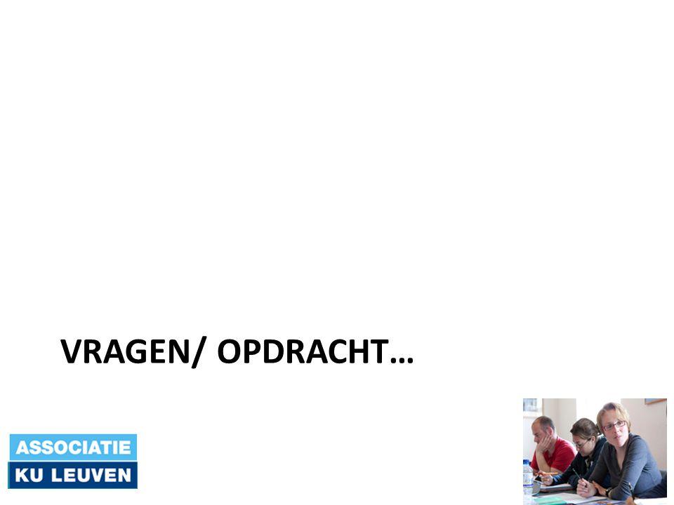VRAGEN/ OPDRACHT…