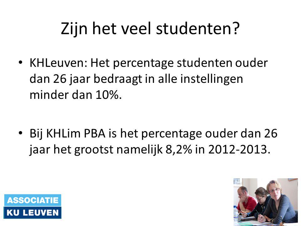 Zijn het veel studenten.