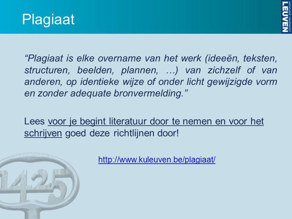 """Plagiaat """"Plagiaat is elke overname van het werk (ideeën, teksten, structuren, beelden, plannen, …) van zichzelf of van anderen, op identieke wijze of"""