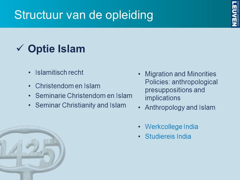 Migration and Minorities Policies: anthropological presuppositions and implications Anthropology and Islam Werkcollege India Studiereis India Optie Is