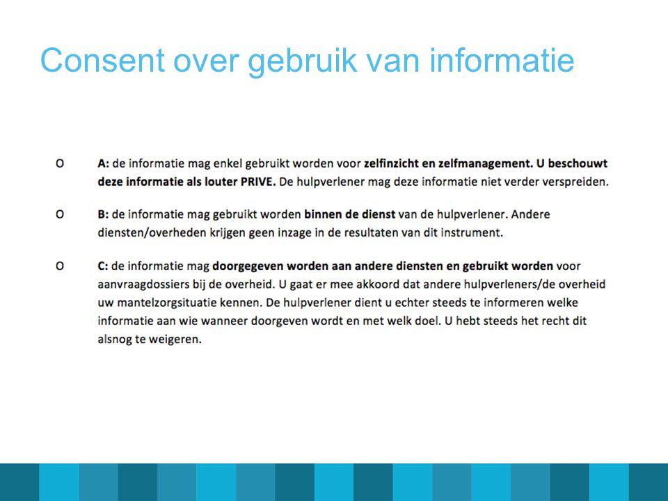 Consent over gebruik van informatie