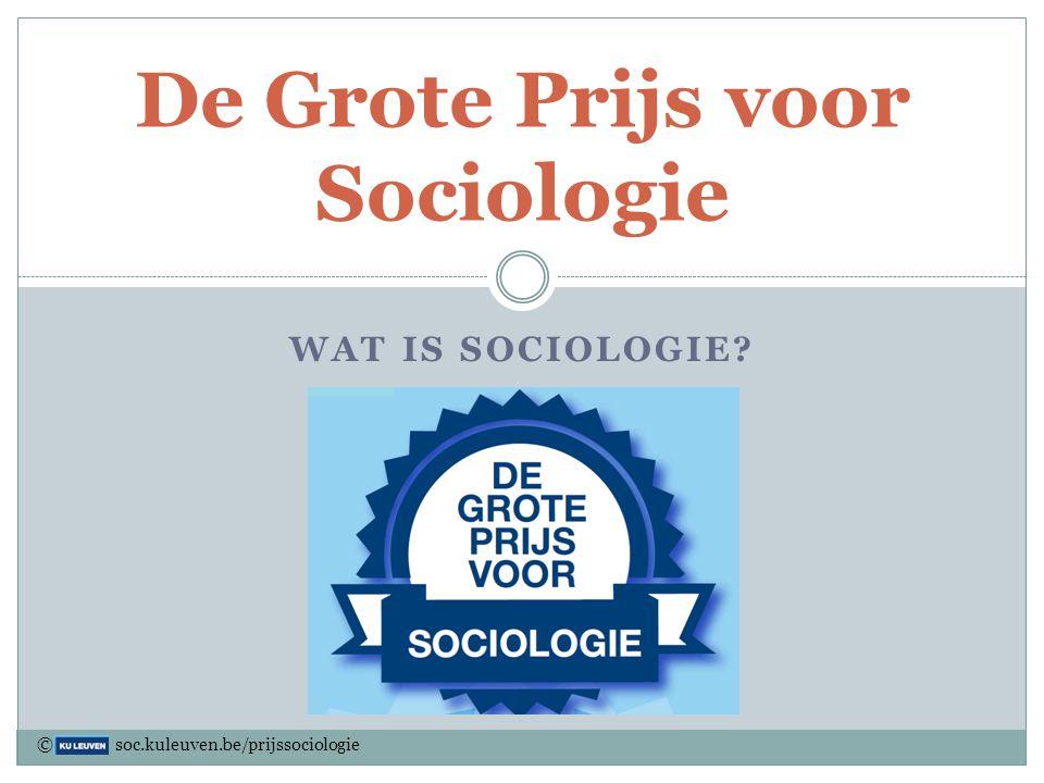 Een greep uit Sociology's Hall of Fame © soc.kuleuven.be/prijssociologie