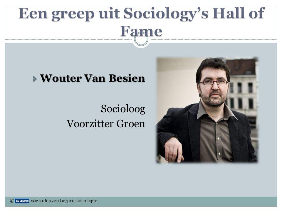  Wouter Van Besien Socioloog Voorzitter Groen © soc.kuleuven.be/prijssociologie