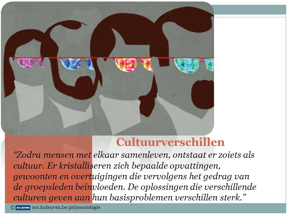 """Cultuurverschillen """"Zodra mensen met elkaar samenleven, ontstaat er zoiets als cultuur. Er kristalliseren zich bepaalde opvattingen, gewoonten en over"""