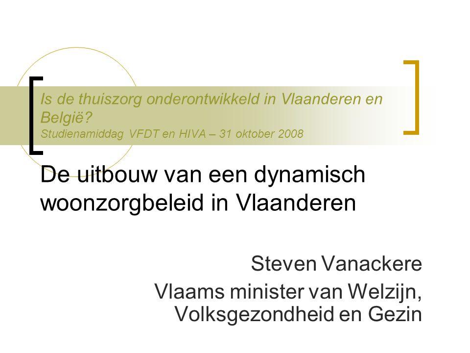 Is de thuiszorg onderontwikkeld in Vlaanderen en België.