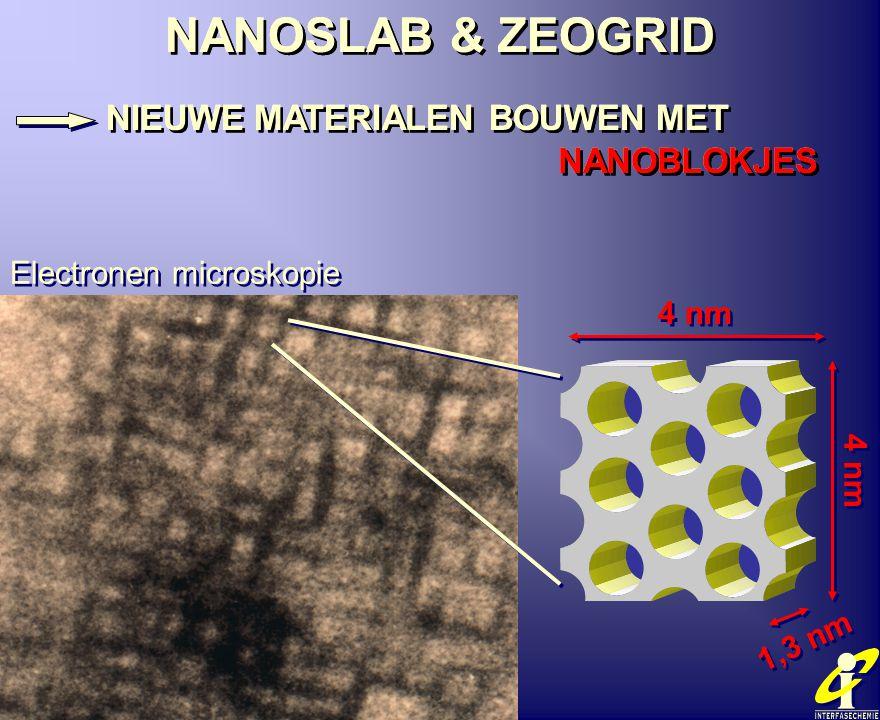 NANOSLAB & ZEOGRID NIEUWE MATERIALEN BOUWEN MET NANOBLOKJES NANOSLAB & ZEOGRID NIEUWE MATERIALEN BOUWEN MET NANOBLOKJES Electronen microskopie 4 nm 1,