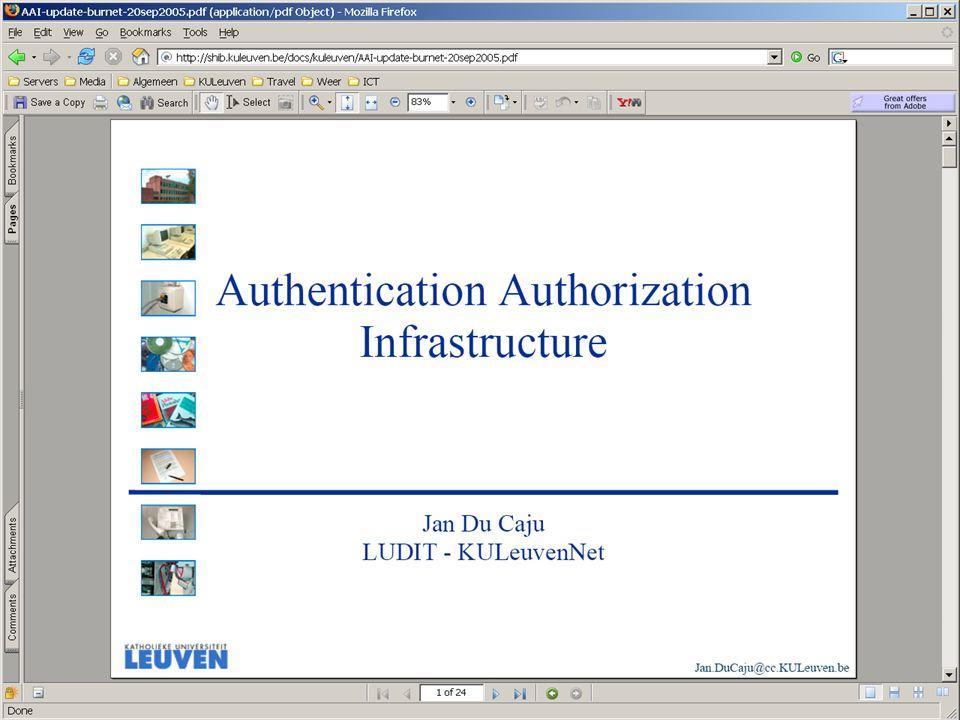 K. U. L E U V E N - L U D I T WimM 16/12/2005Storage&BU-01 Centrale LDAP
