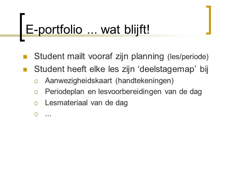 E-portfolio... wat blijft.