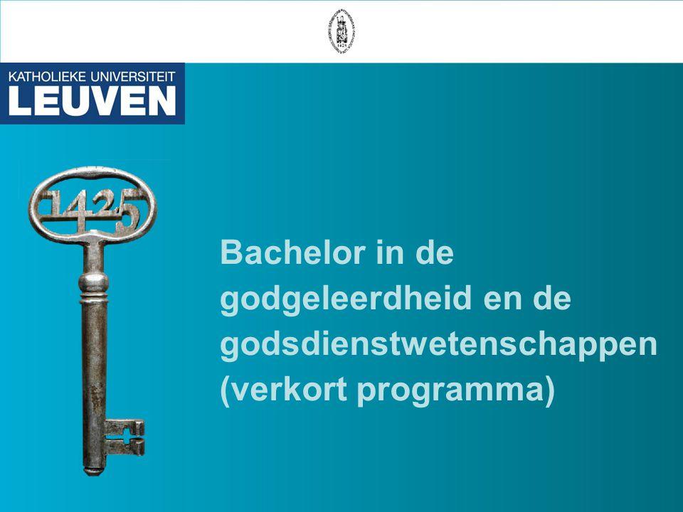 Bachelor in de godgeleerdheid en de godsdienstwetenschappen (verkort programma)