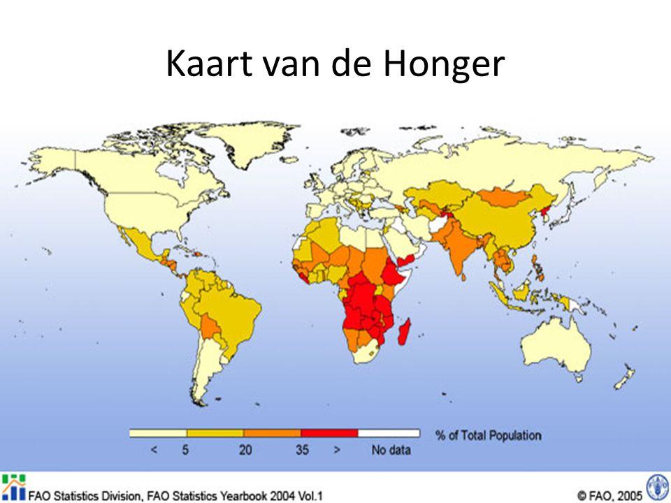 Kaart van de Honger
