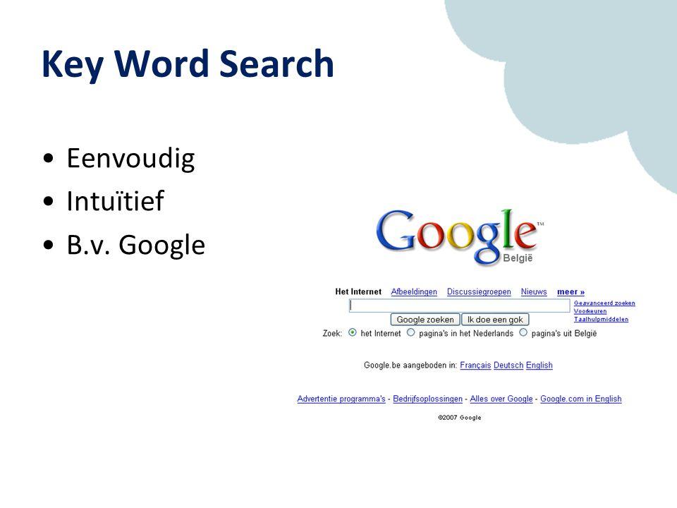Key Word Search Eenvoudig Intuïtief B.v. Google