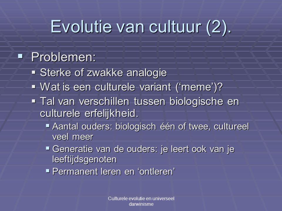 Evolutie van cultuur (2).