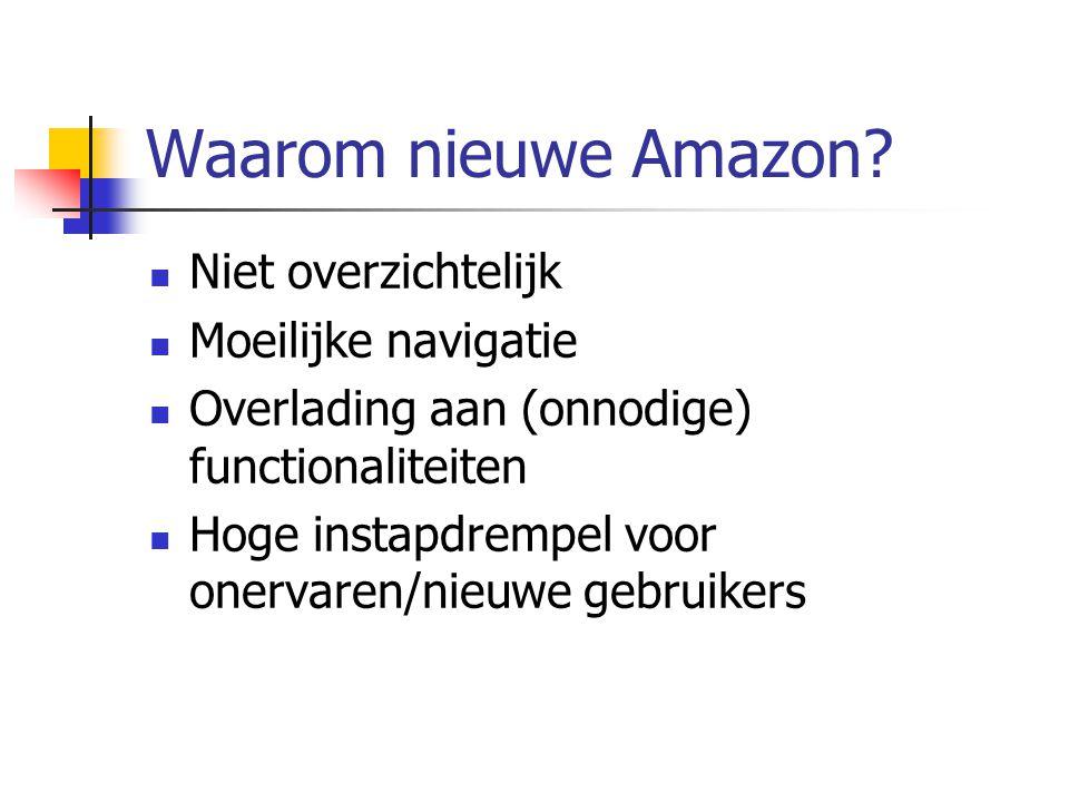 Doelgroep Onervaren gebruikers Met PC en Internet Met het kopen online Ook meer ervaren gebruikers Nederlandstalig Gericht zoeken