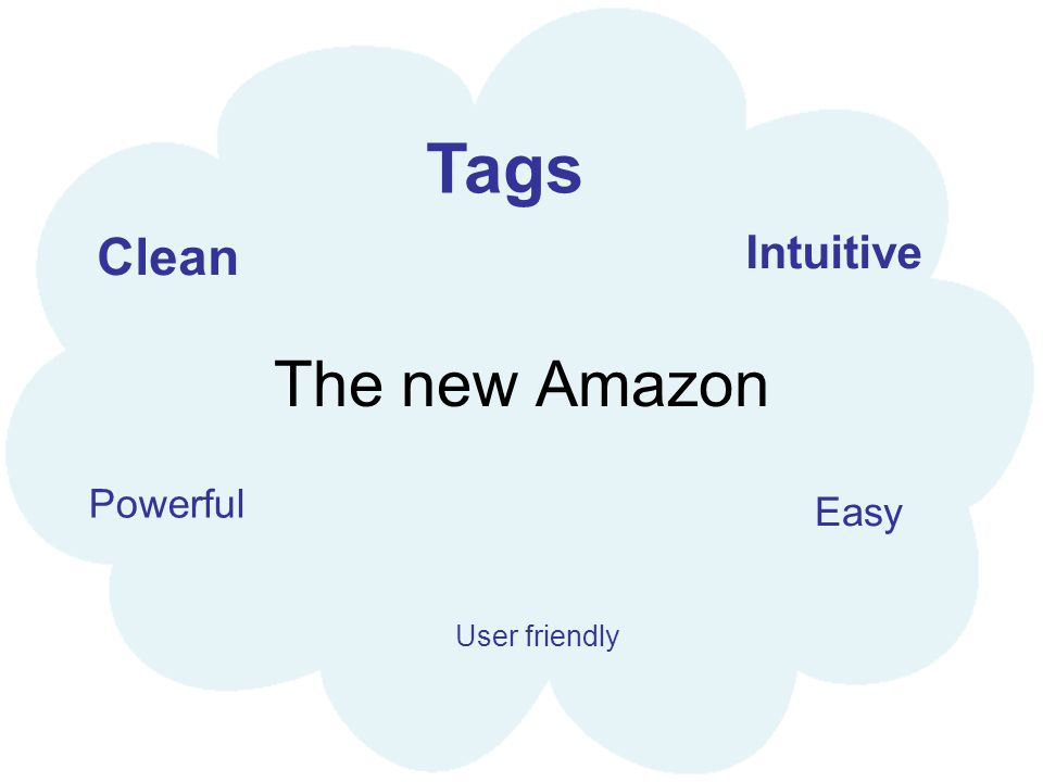 The new Amazon Easy Intuitive Clean Powerful Tags User friendly