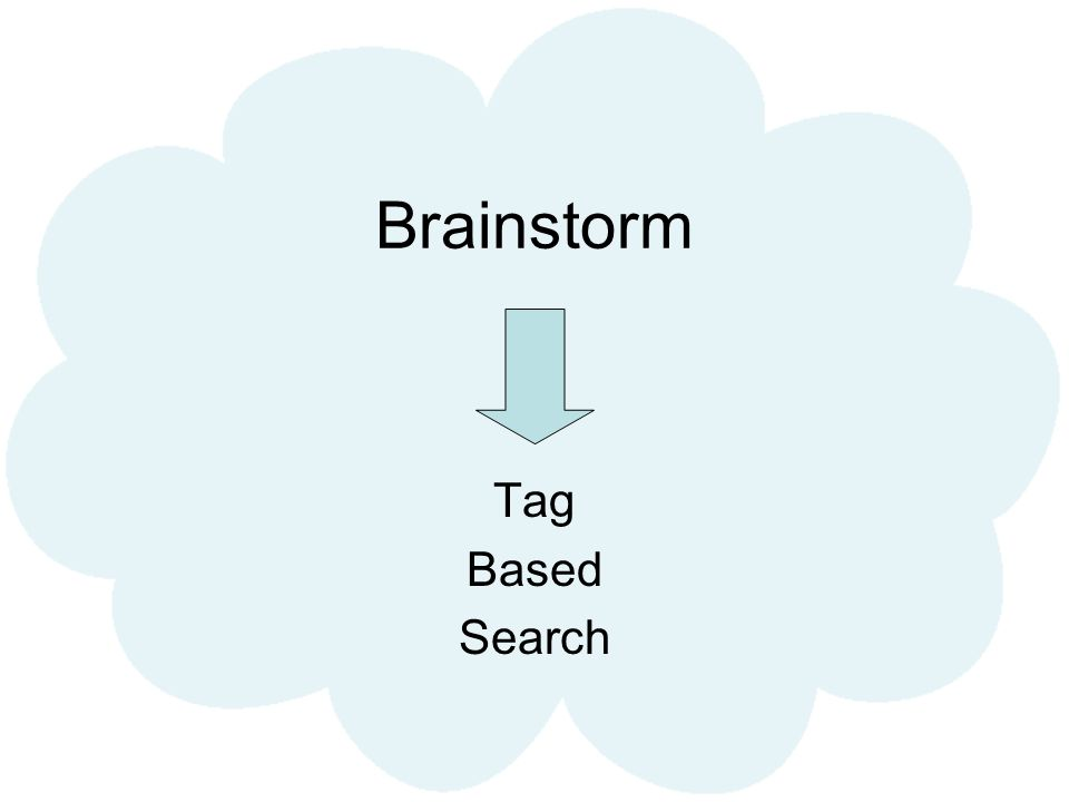 Brainstorm Tag Based Search