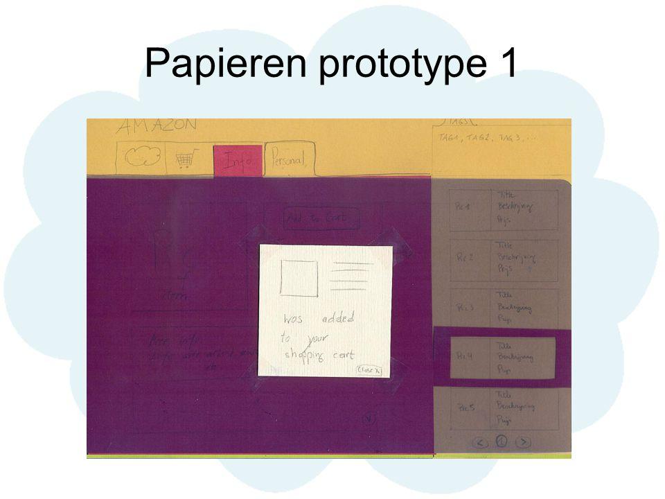 Papieren prototype 1